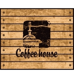logo of the coffee house vector image vector image