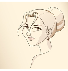 Series Face of woman vector image