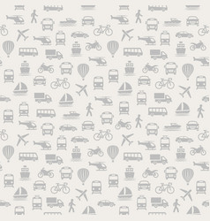 transport seamless pattern background with icons vector image