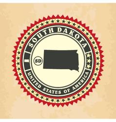 Vintage label-sticker cards of South Dakota vector image vector image