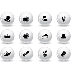 Web buttons thanksgiving icons vector image