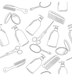 Background with hairdressing accessories vector image vector image
