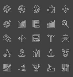 Career outline icons vector