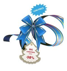 Christmas sale blue banner vector