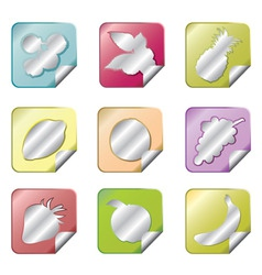 fruit sticker pack vector image