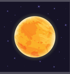 graphic moon on night sky with starlight vector image