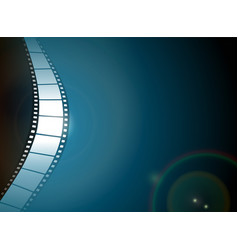 photo film strip on dark background vector image