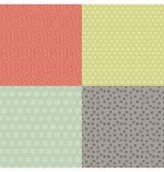 Retro Seamless Patterns Set vector image