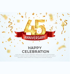 45 years anniversary banner template forty vector