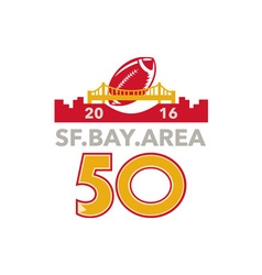 50 San Francisco Pro Football Championship vector