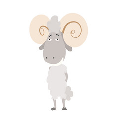 a ram domestic animal vector image