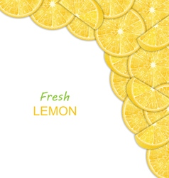 Abstract Border with Sliced Lemons vector image