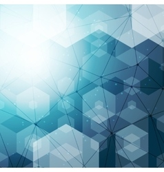Abstract polygonal space blue hexagonal background vector