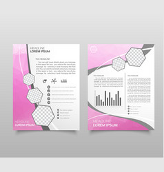 annual report brochure layout design template vector image