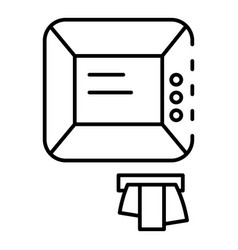 atm icon outline style vector image