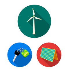 bio and ecology flat icons in set collection for vector image