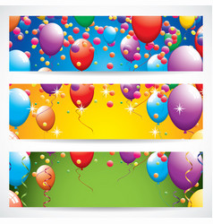 Birthday banners vector