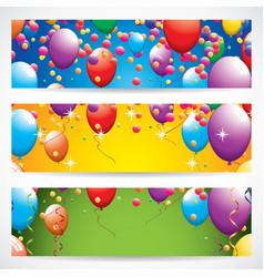 birthday banners vector image