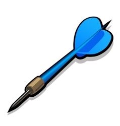 Blue dart for Darts Icon on white background vector