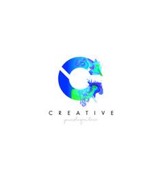 C letter icon design logo with creative artistic vector