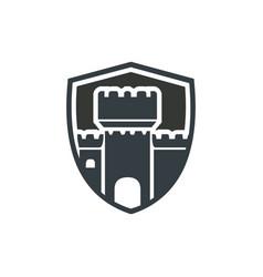 Castle logo design vector