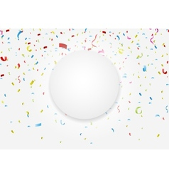 celebration with colorful confetti vector image