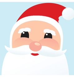 Christmas card with Santa Klaus face vector