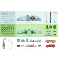 City Buildings Infographic vector