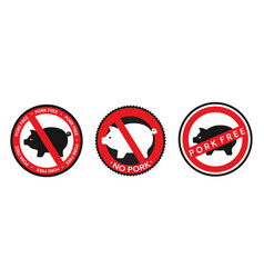 collection red and black signs icons vector image