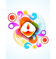 Colorful diwali festival vector