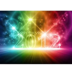 Colorful transparent year 2012 vector