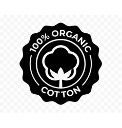 Cotton flower organic icon eco natural and bio vector