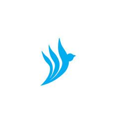 creative bird fly logo design vector image