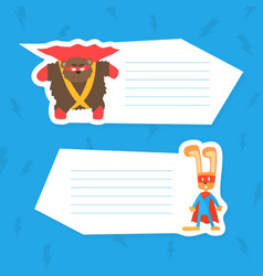 cute superhero animals with place for your text vector image