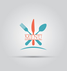 Cutlery isolated colored menu logo vector