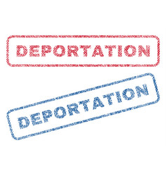Deportation textile stamps vector