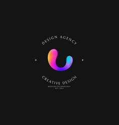 Design agency logo template vector