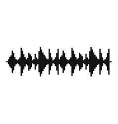 equalizer song icon simple black style vector image