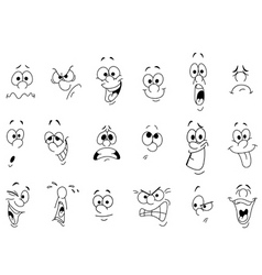 facial expressions vector image