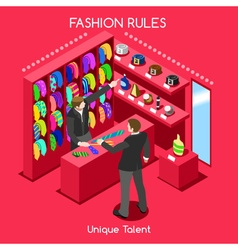 Fashion Moods 03 People Isometric vector image