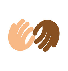 fight against racism logo no vector image