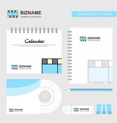 film logo calendar template cd cover diary and vector image