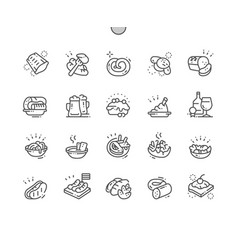 german cuisine well-crafted pixel perfect vector image