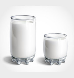 glasses of milk vector image