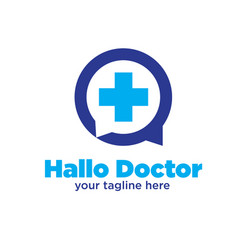 hallo doctor logo designs vector image