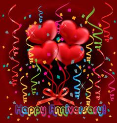 happy anniversary card vector image