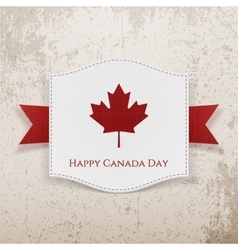 Happy Canada Day grunge Background vector image