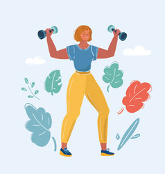 Healthy fitness girl vector