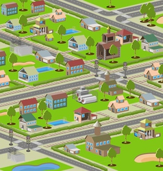 highways small town vector image