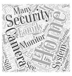 Home Security Concerns and Solutions Word Cloud vector